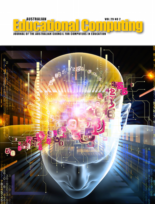 Australian Educational Computing 2014 Volume 29 Number 2 Cover image of a head with numbers superimposed