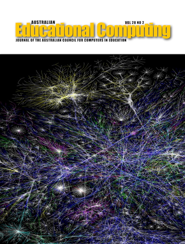 Australian Educational Computing 2013 Volume 28 Number 1 Cover image of a social network